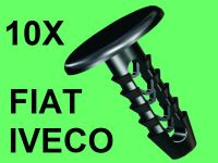 10x FIAT IVECO ROOF TRIM RETAINER CLIP, TRIM CLIP BLACK